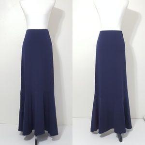 NWOT ECI New York Long Navy Blue Skirt